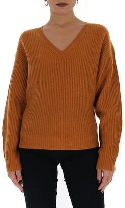 Theory V-Neck Knit Sweater