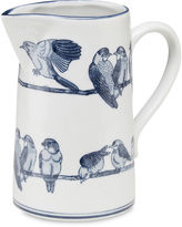 AA Importing 10 Ceramic Bird Pitcher, Blue/White