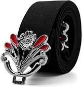 Black Butterfly Clothing Black Butterfly 1 Inch Dandelion Flower Buckle Belt (, US)