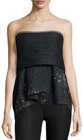 Donna Karan Short Bustier Top, Charcoal