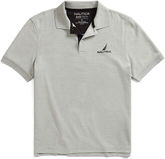Nautica Men's Navtech Stripe Collar Polo