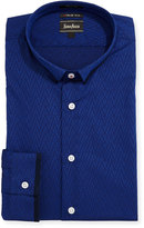 Neiman Marcus XTrim-Fit Regular Finish Embroidered Dobby Dress Shirt