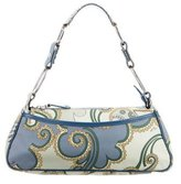 Emilio Pucci Paisley Print Leather Shoulder Bag