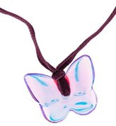 Baccarat Iridescent Papillon Pendant Necklace