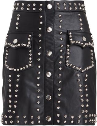 Giuseppe di Morabito Studded Leather Mini Skirt