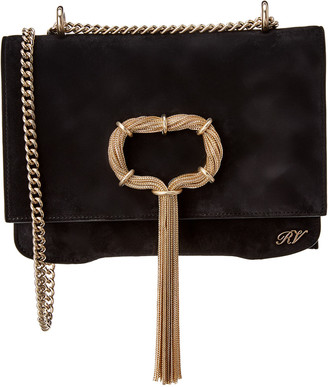 Roger Vivier Club Chain Suede Shoulder Bag