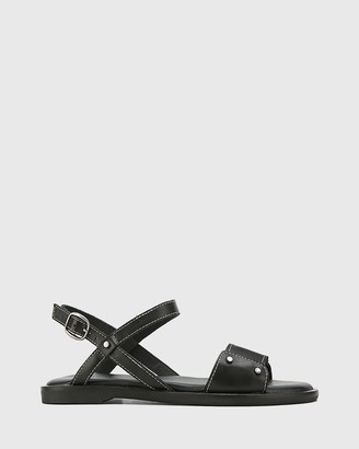 Wittner - Women's Black Flat Sandals - Cabello Leather Open Toe Flat Sandals - Size One Size, 38 at The Iconic