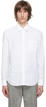 Maison Margiela White Garment-Dyed Slim Shirt