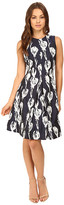 Christin Michaels Alesha Tulip Jacquard Dress