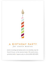 Minted Lit Candle Children's Birthday Party Invitations
