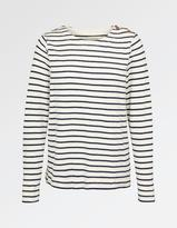 Fat Face Bude Stripe Crew Neck Sweat
