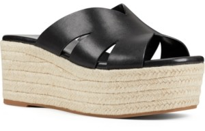 Nine West Eddy Flatform Wedge Espadrilles Women's Shoes