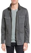 John Varvatos Men's Hooded Zip Front Military Jacket