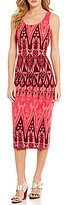 Tommy Bahama Pineapple Ikat Midi Tank Dress
