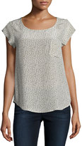 Joie Rancher Printed Silk Top, Fatigue
