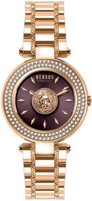 Versace 36mm IP Rose Burgundy Dial IP Rose Watch with Bracelet