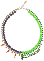 Fluorescent Crystal and Pearl Necklace