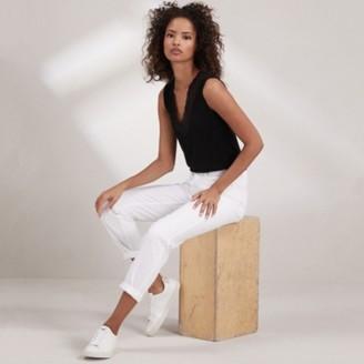 The White Company Brompton Boyfriend Jeans - 30 Length, White, 4