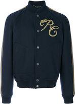 Roberto Cavalli embroidered varsity jacket - men - Cotton/Nylon/Polyester/Metallized Polyester - 48