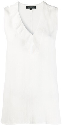 Antonelli Sleeveless Crinkled Blouse