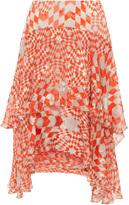 Preen by Thornton Bregazzi Kenobi Printed Ruffle Skirt