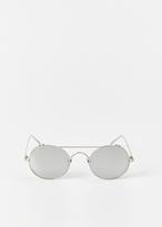 Linda Farrow white gold / platinum sunglasses