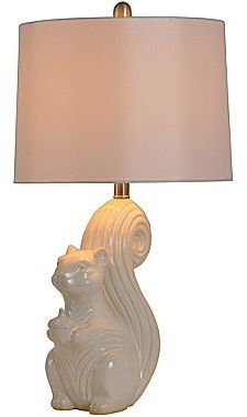 JCPenney Ceramic Squirrel Table Lamp