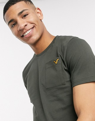 Voi Jeans pocket t-shirt in khaki