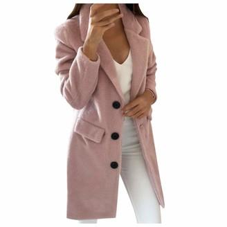 Celucke Women Long Wool Coat