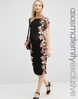 Asos Bodycon Dress with Placement Floral