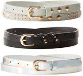 Charlotte Russe Plus Size Studded, Holographic, & Faux Leather Belts - 3 Pack
