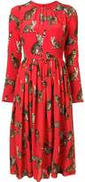 Dolce & Gabbana cat print dress