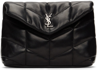 Saint Laurent Black Small Loulou Puffer Pouch