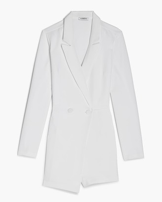 Express Double Breasted Long Sleeve Blazer Romper
