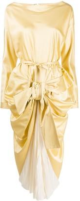 Marni Bow-Embellished Draped Dress