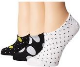 Converse Chucks Mega Polka Dot 3-Pair Pack Women's No Show Socks Shoes