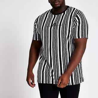 River Island Big and Tall black Maison slim fit T-shirt
