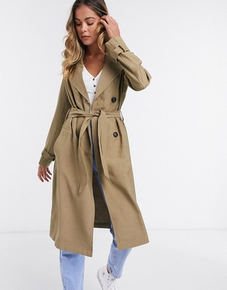 JDY arya trench coat in grey
