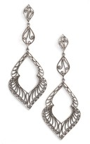 Argentovivo Women's Marquee Drop Earrings