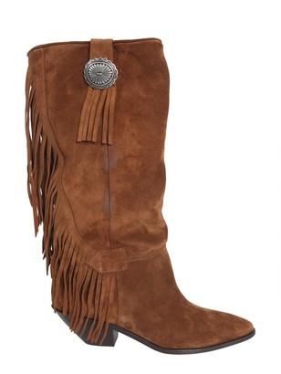 Saint Laurent Fringed High Boots