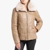 Oakwood Edito Short Padded Jacket in Leather