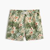 """J.Crew 6"""" Swim Trunk In Jungle Floral"""