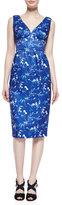 Erin Fetherston Simone Sleeveless V-Neck Dress, Blue/Multi