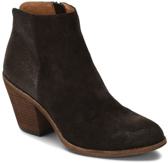 Sofft Stacked Heel Mixed Leather Booties - Tilton