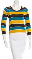 Dolce & Gabbana Striped Silk Knit Top