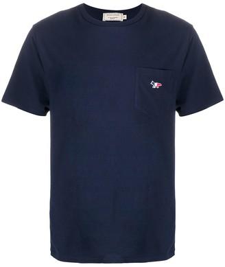 MAISON KITSUNÉ embroidered logo T-shirt