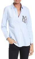 Equipment Women's 'Leema' Pocket Detail Stripe Cotton Shirt