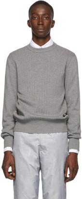 Thom Browne Grey Variegated Rib Airmail Sweater