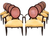 Baker Oval X-Back Dining Chairs