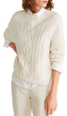 MANGO Openwork Cable Knit Sweater